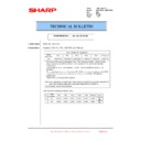 Sharp MX-2610N, MX-3110N, MX-3610N (serv.man211) Technical Bulletin