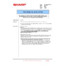 Sharp MX-2610N, MX-3110N, MX-3610N (serv.man224) Technical Bulletin