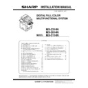 Sharp MX-2614N, MX-3114N (serv.man8) Service Manual