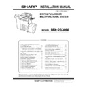 Sharp MX-2630 Service Manual
