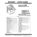 Sharp MX-3050N, MX-3060N, MX-3070N, MX-3550N, MX-3560N, MX-3570N, MX-4050N, MX-4060N, MX-4070N (serv.man11) Parts Guide