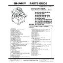 Sharp MX-3050N, MX-3060N, MX-3070N, MX-3550N, MX-3560N, MX-3570N, MX-4050N, MX-4060N, MX-4070N (serv.man12) Parts Guide