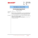 Sharp MX-4100N, MX-4101N, MX-5000N, MX-5001N (serv.man105) Technical Bulletin