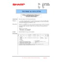 Sharp MX-4100N, MX-4101N, MX-5000N, MX-5001N (serv.man133) Technical Bulletin