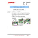 Sharp MX-4100N, MX-4101N, MX-5000N, MX-5001N (serv.man134) Technical Bulletin
