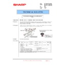 Sharp MX-4100N, MX-4101N, MX-5000N, MX-5001N (serv.man139) Technical Bulletin