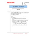 Sharp MX-4100N, MX-4101N, MX-5000N, MX-5001N (serv.man141) Technical Bulletin