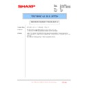Sharp MX-4100N, MX-4101N, MX-5000N, MX-5001N (serv.man148) Technical Bulletin