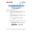 Sharp MX-4100N, MX-4101N, MX-5000N, MX-5001N (serv.man150) Technical Bulletin