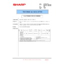 Sharp MX-4100N, MX-4101N, MX-5000N, MX-5001N (serv.man153) Technical Bulletin