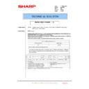 Sharp MX-4100N, MX-4101N, MX-5000N, MX-5001N (serv.man156) Technical Bulletin