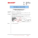 Sharp MX-4100N, MX-4101N, MX-5000N, MX-5001N (serv.man162) Technical Bulletin