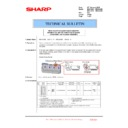 Sharp MX-4100N, MX-4101N, MX-5000N, MX-5001N (serv.man168) Technical Bulletin