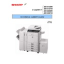 Sharp MX-4100N, MX-4101N, MX-5000N, MX-5001N (serv.man3) Handy Guide