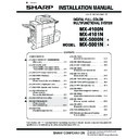Sharp MX-4100N, MX-4101N, MX-5000N, MX-5001N (serv.man38) Service Manual