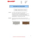 Sharp MX-4100N, MX-4101N, MX-5000N, MX-5001N (serv.man61) Technical Bulletin