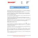Sharp MX-4100N, MX-4101N, MX-5000N, MX-5001N (serv.man62) Technical Bulletin