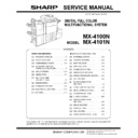Sharp MX-4100N, MX-4101N, MX-5000N, MX-5001N (serv.man7) Service Manual