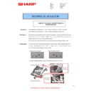 Sharp MX-4100N, MX-4101N, MX-5000N, MX-5001N (serv.man70) Technical Bulletin