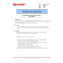 Sharp MX-4100N, MX-4101N, MX-5000N, MX-5001N (serv.man80) Technical Bulletin