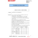 Sharp MX-4100N, MX-4101N, MX-5000N, MX-5001N (serv.man82) Technical Bulletin