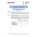 Sharp MX-4100N, MX-4101N, MX-5000N, MX-5001N (serv.man87) Technical Bulletin