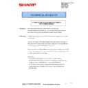 Sharp MX-4100N, MX-4101N, MX-5000N, MX-5001N (serv.man89) Technical Bulletin