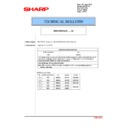 Sharp MX-4100N, MX-4101N, MX-5000N, MX-5001N (serv.man91) Technical Bulletin