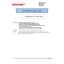 Sharp MX-4100N, MX-4101N, MX-5000N, MX-5001N (serv.man94) Technical Bulletin