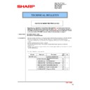 Sharp MX-4100N, MX-4101N, MX-5000N, MX-5001N (serv.man95) Technical Bulletin