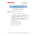Sharp MX-4100N, MX-4101N, MX-5000N, MX-5001N (serv.man97) Technical Bulletin