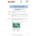 Sharp MX-5500N, MX-6200N, MX-7000N (serv.man103) Technical Bulletin