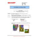 Sharp MX-5500N, MX-6200N, MX-7000N (serv.man108) Technical Bulletin