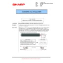Sharp MX-5500N, MX-6200N, MX-7000N (serv.man111) Technical Bulletin