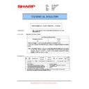 Sharp MX-5500N, MX-6200N, MX-7000N (serv.man121) Technical Bulletin