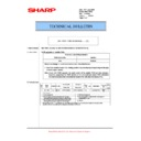 Sharp MX-5500N, MX-6200N, MX-7000N (serv.man137) Technical Bulletin