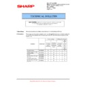 Sharp MX-5500N, MX-6200N, MX-7000N (serv.man138) Technical Bulletin