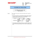 Sharp MX-5500N, MX-6200N, MX-7000N (serv.man148) Technical Bulletin