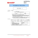 Sharp MX-5500N, MX-6200N, MX-7000N (serv.man192) Technical Bulletin