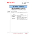 Sharp MX-6240N, MX-7040N (serv.man104) Technical Bulletin