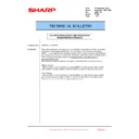 Sharp MX-6240N, MX-7040N (serv.man132) Technical Bulletin