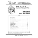 Sharp MX-6240N, MX-7040N (serv.man18) Service Manual