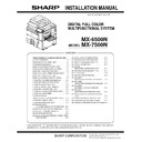 Sharp MX-6500N, MX-7500N (serv.man10) Service Manual