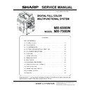 Sharp MX-6500N, MX-7500N (serv.man11) Service Manual