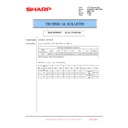 Sharp MX-6500N, MX-7500N (serv.man120) Technical Bulletin