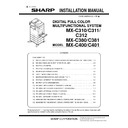 Sharp MX-C310, MX-C311, MX-C312, MX-C380, MX-C381, MX-C400, MX-C401 (serv.man11) Service Manual