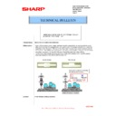 Sharp MX-C310, MX-C311, MX-C312, MX-C380, MX-C381, MX-C400, MX-C401 (serv.man113) Technical Bulletin