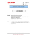 Sharp MX-C310, MX-C311, MX-C312, MX-C380, MX-C381, MX-C400, MX-C401 (serv.man83) Technical Bulletin
