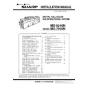 Sharp MX-CF11, MX-6240N, MX-7040N (serv.man2) Service Manual