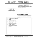 Sharp MX-CS11 Parts Guide